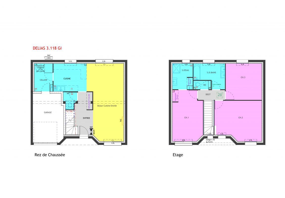 Maisons du constructeur MAISONS PIERRE MELUN • 118 m² • CHAUMES EN BRIE