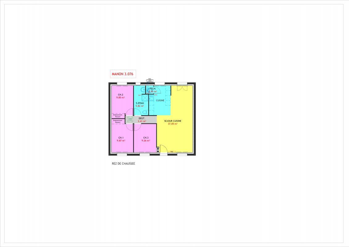 Maisons du constructeur MAISONS PIERRE STE GENEVIEVE DES BOIS • 76 m² • SOISY SUR ECOLE