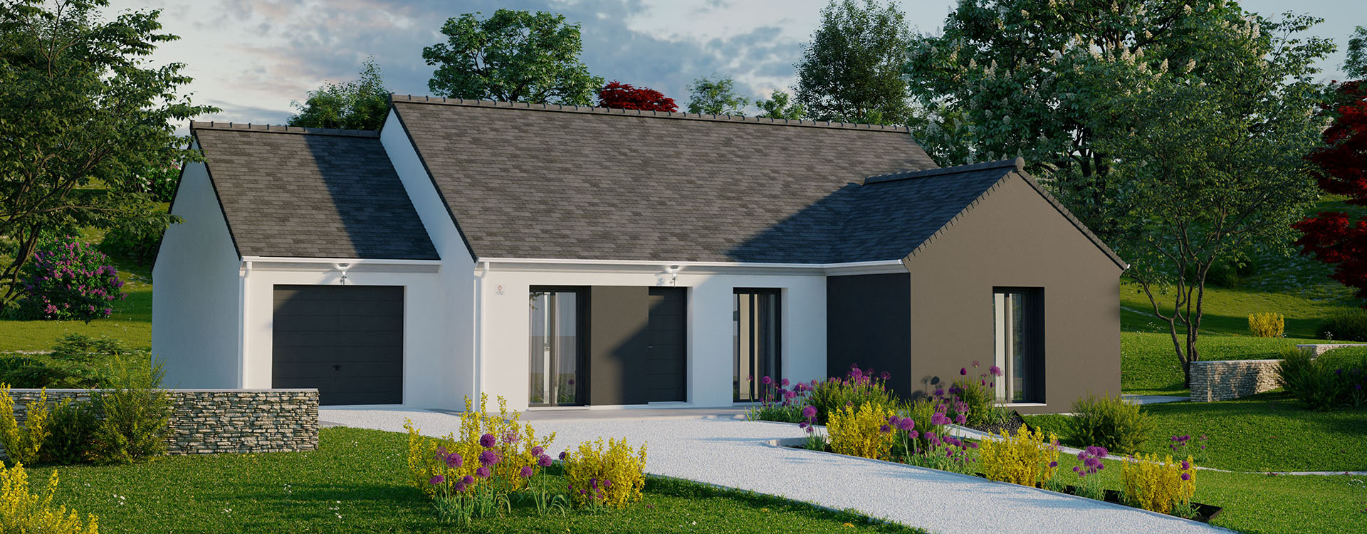Maisons du constructeur MAISONS PIERRE STE GENEVIEVE DES BOIS • 99 m² • LA FERTE ALAIS