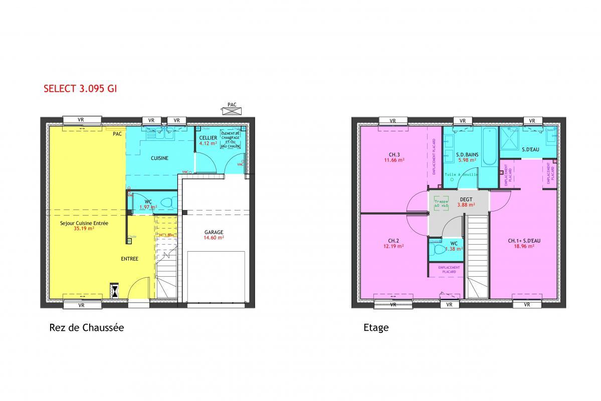 Maisons du constructeur MAISONS PIERRE VILLE DU BOIS • 95 m² • LINAS