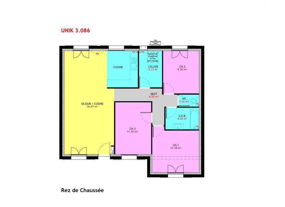Maisons du constructeur MAISONS PIERRE VILLE DU BOIS • 86 m² • CERNY