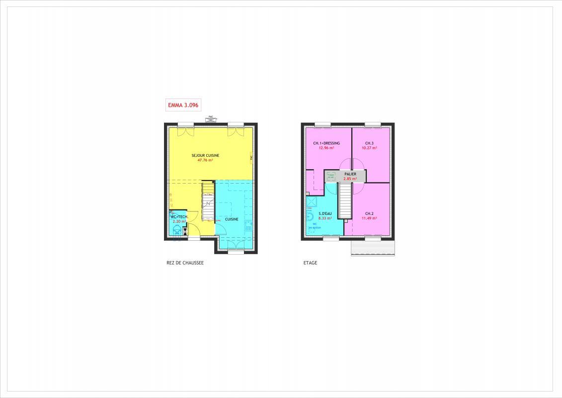 Maisons du constructeur MAISONS PIERRE MOISSY • 96 m² • RUBELLES