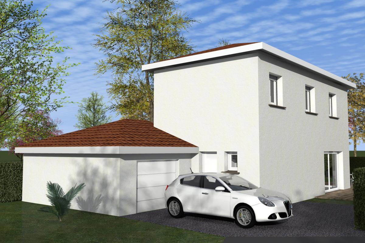 Maisons du constructeur TRADYBEL RHONE • 100 m² • L'ISLE D'ABEAU