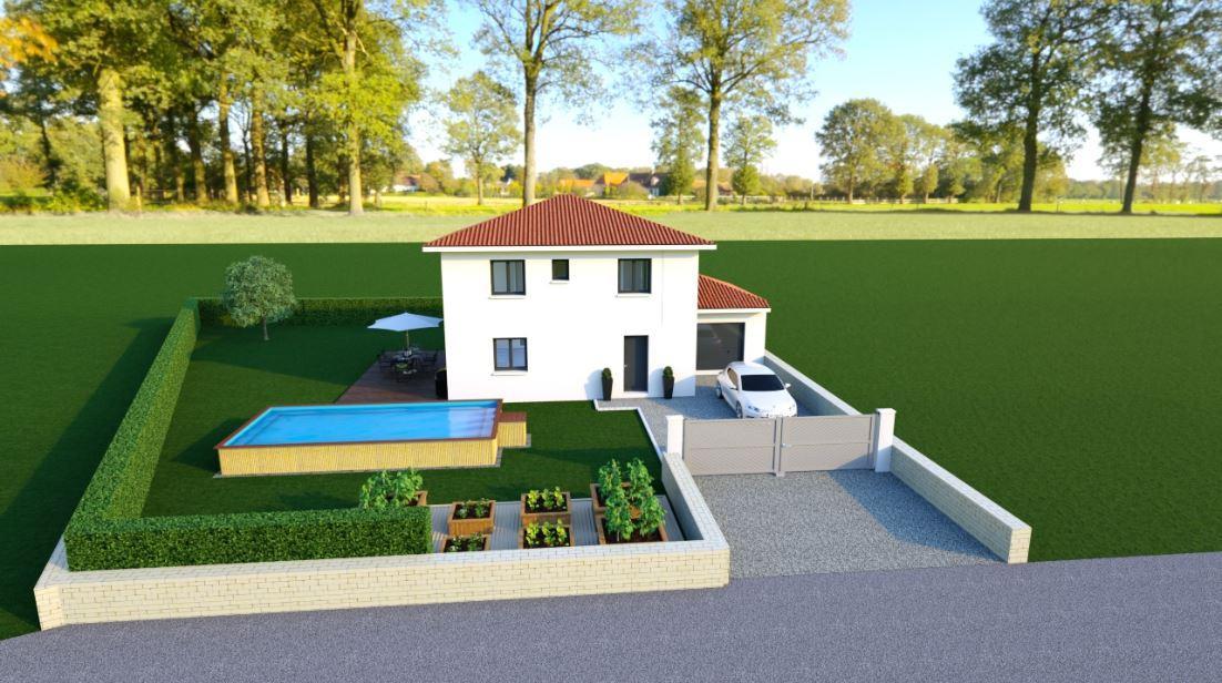 Maisons du constructeur TRADYBEL RHONE • 95 m² • JONAGE