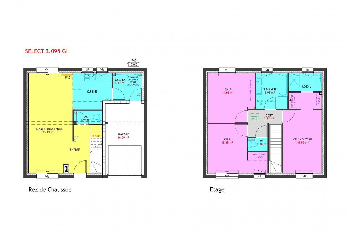 Maisons du constructeur MAISONS PIERRE • 95 m² • NEZEL