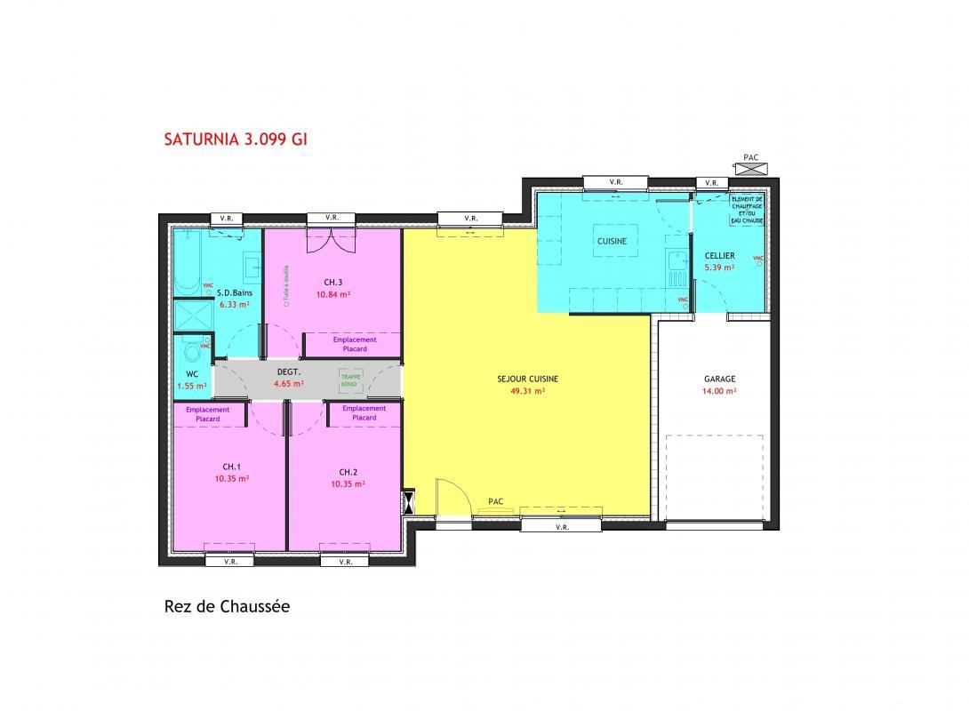 Maisons du constructeur MAISONS PIERRE • 99 m² • LE PALLET