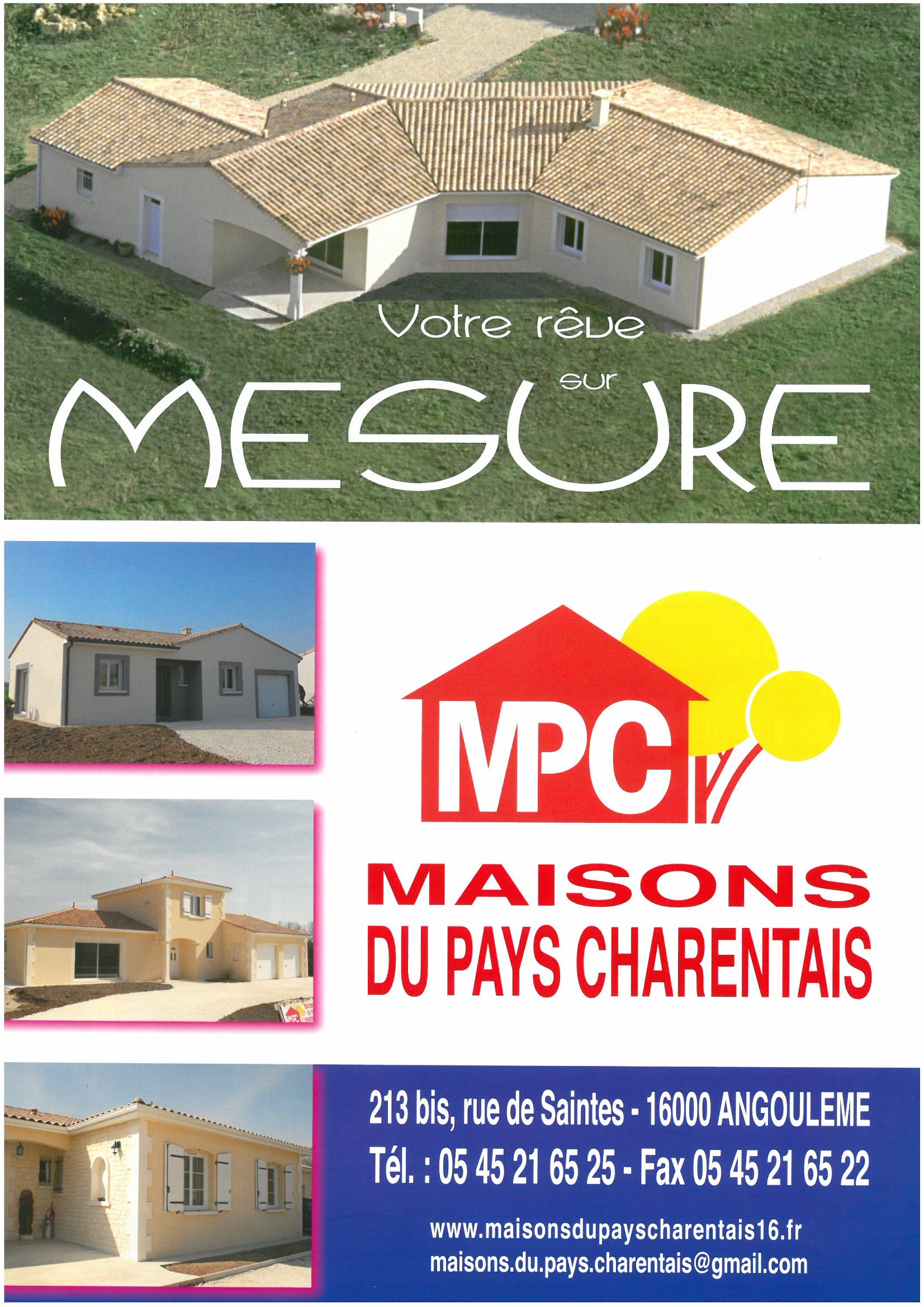 Maisons + Terrains du constructeur MAISONS DU PAYS CHARENTAIS • 71 m² • LES MATHES