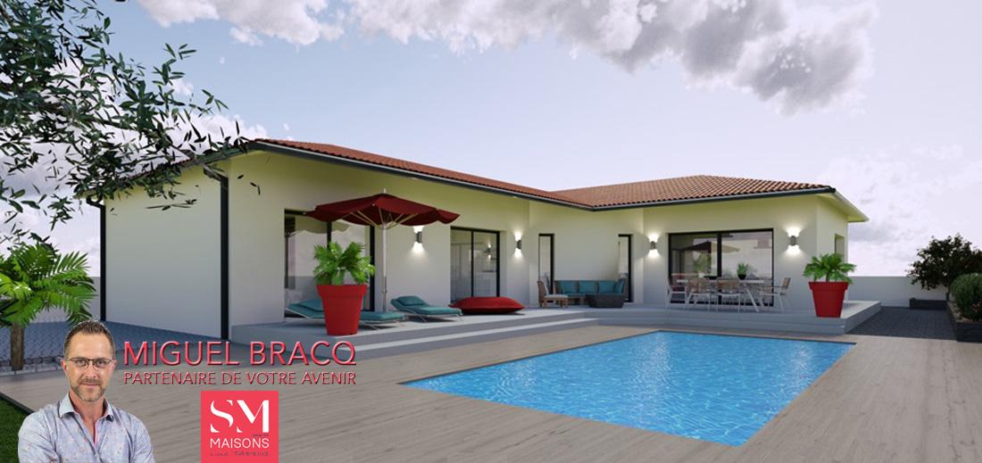 Maisons + Terrains du constructeur SM MAISON • 100 m² • SAUVIAN
