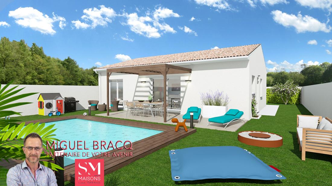 Maisons + Terrains du constructeur SM MAISON • 80 m² • LIEURAN LES BEZIERS