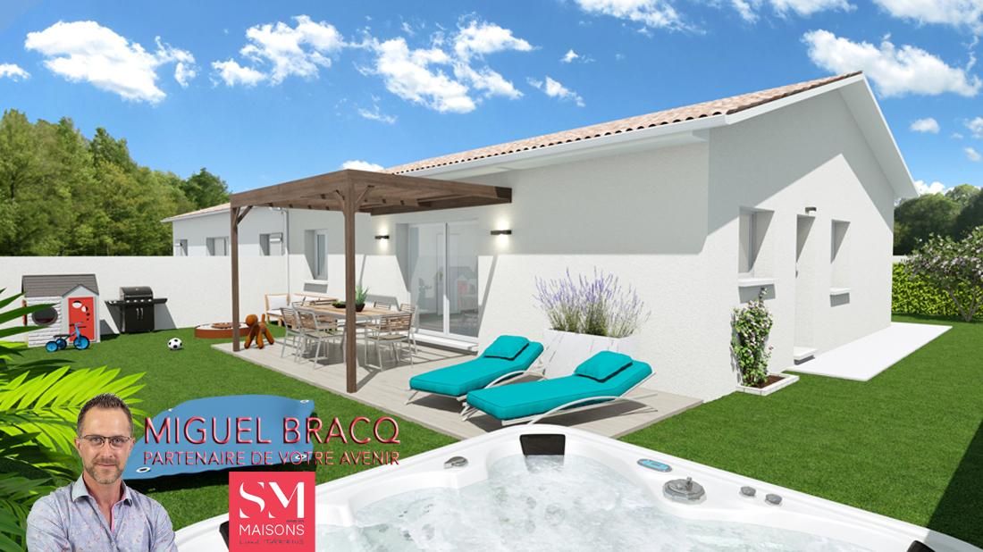 Maisons + Terrains du constructeur SM MAISON • 83 m² • BASSAN