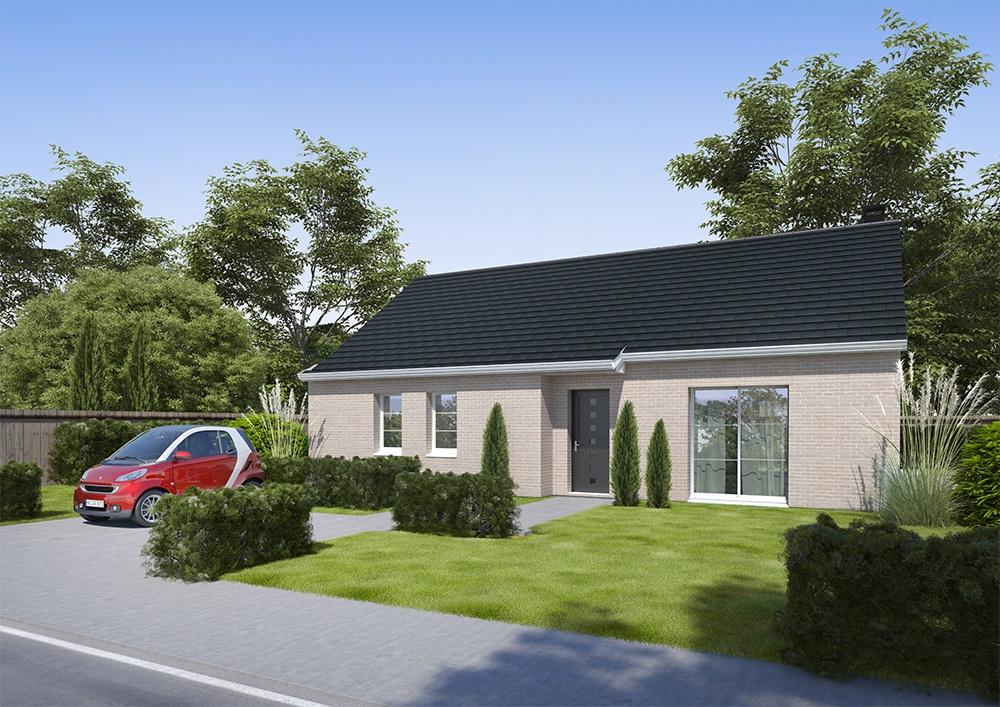 Maisons + Terrains du constructeur HABITAT CONCEPT VALENCIENNES • 90 m² • MARESCHES
