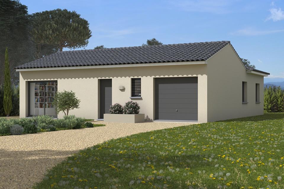 Maisons + Terrains du constructeur MAISONS FRANCE CONFORT • 90 m² • VALLEGUE