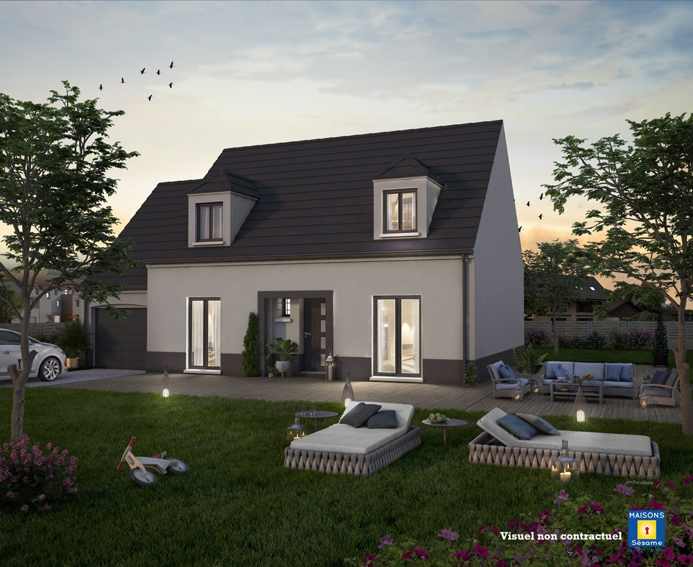 Maisons + Terrains du constructeur MAISONS SESAME • 110 m² • ORGEVAL