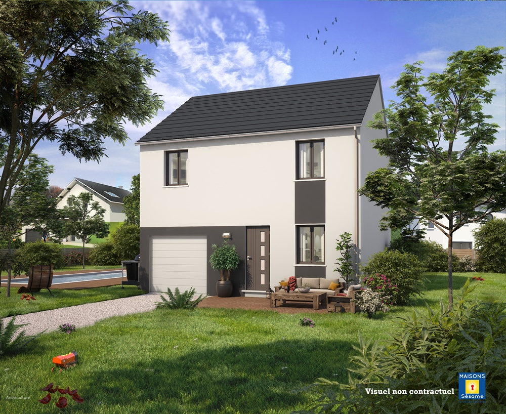 Maisons + Terrains du constructeur MAISONS SESAME • 90 m² • MAGNY LES HAMEAUX