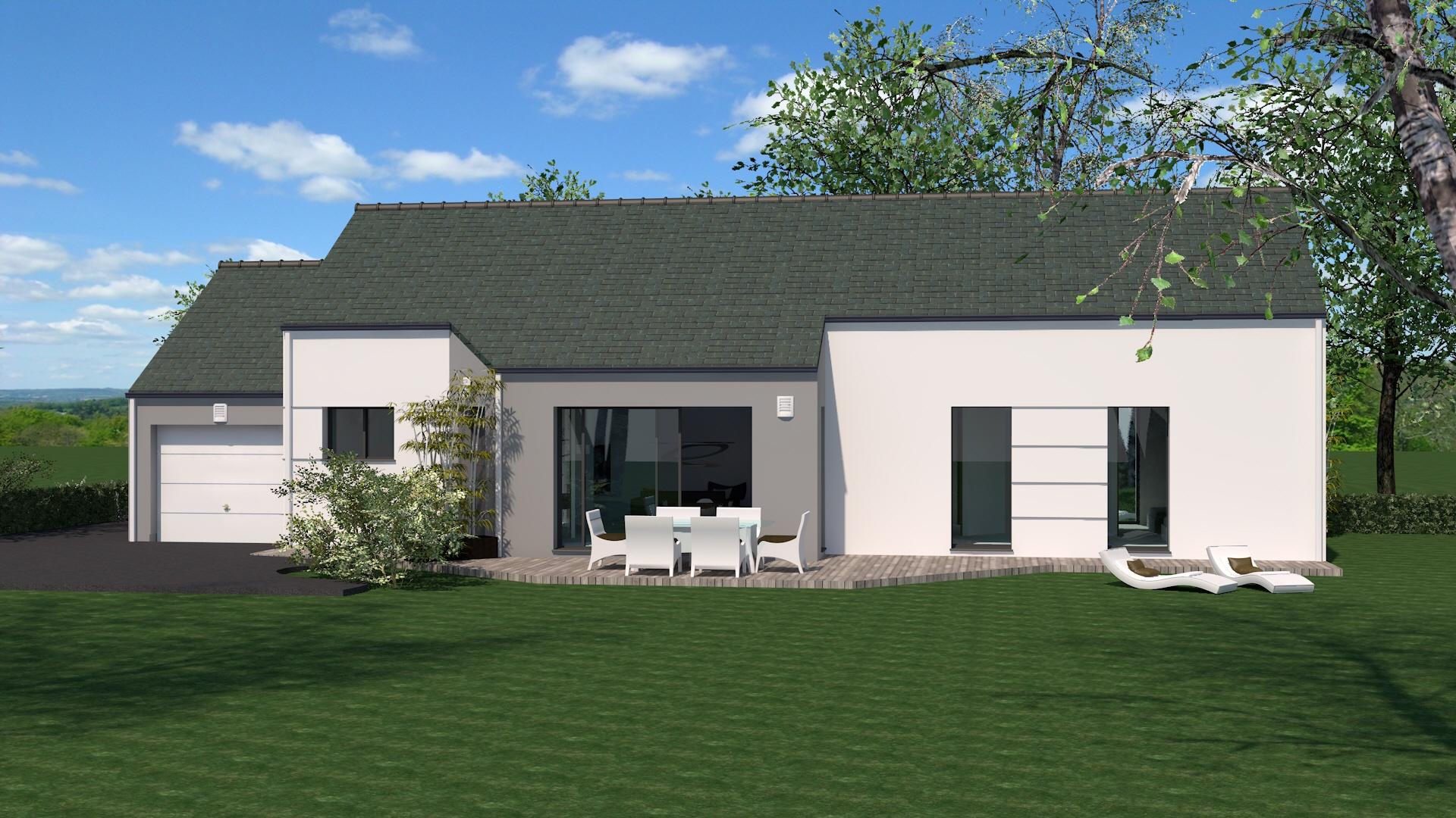 Maisons + Terrains du constructeur MAISON BRIOT NANTES • 95 m² • LE LANDREAU