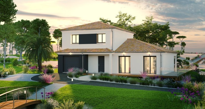 Maisons du constructeur MAISONS PIERRE • 138 m² • LACROIX FALGARDE