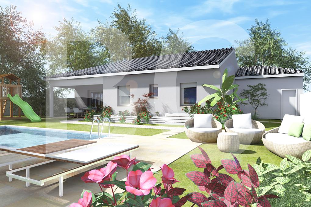 Maisons + Terrains du constructeur BATI CONCEPT 26/07 •  m² • SAINT ANDRE DE CRUZIERES