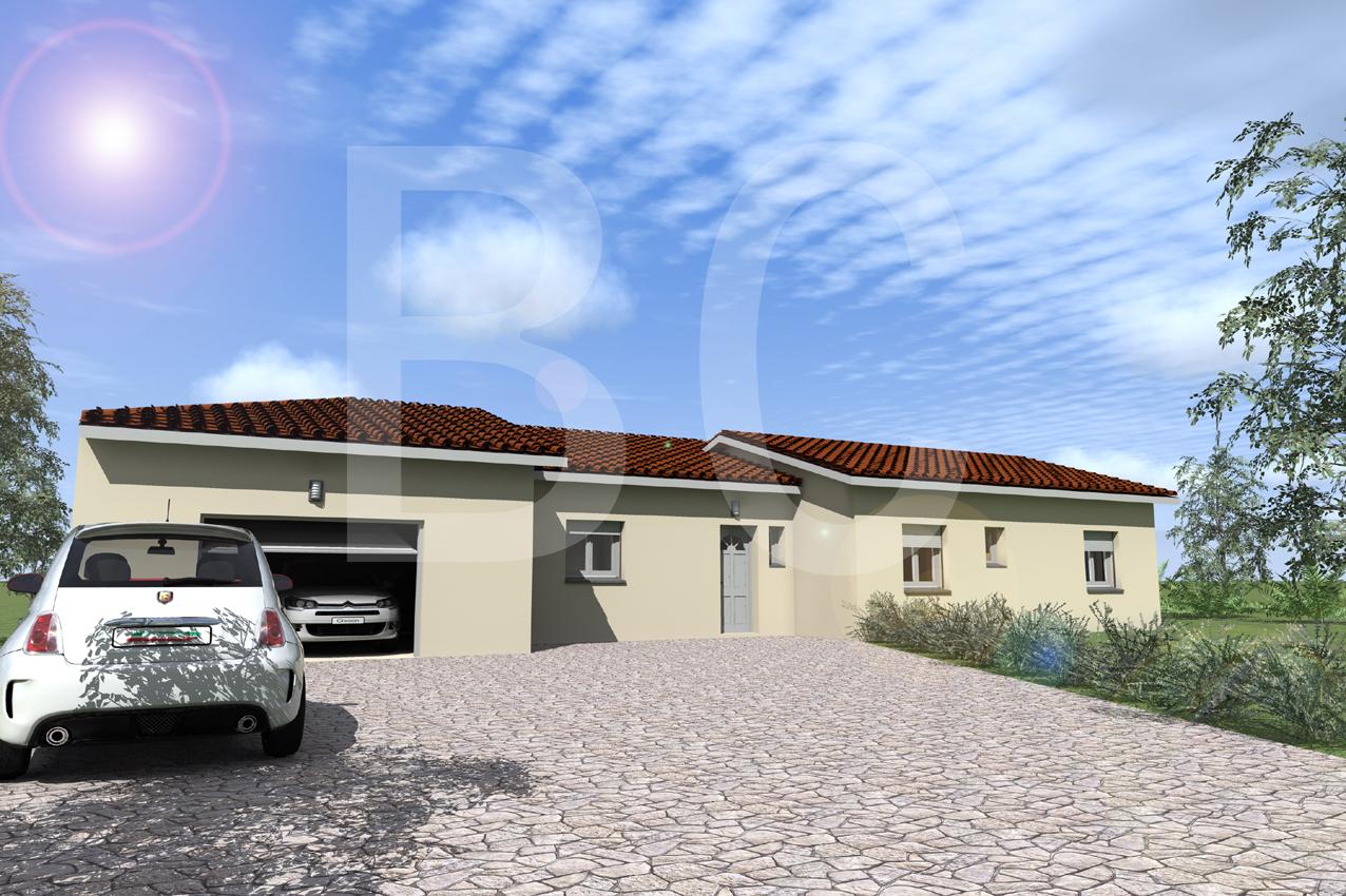 Maisons + Terrains du constructeur BATI CONCEPT 26/07 •  m² • ROSIERES