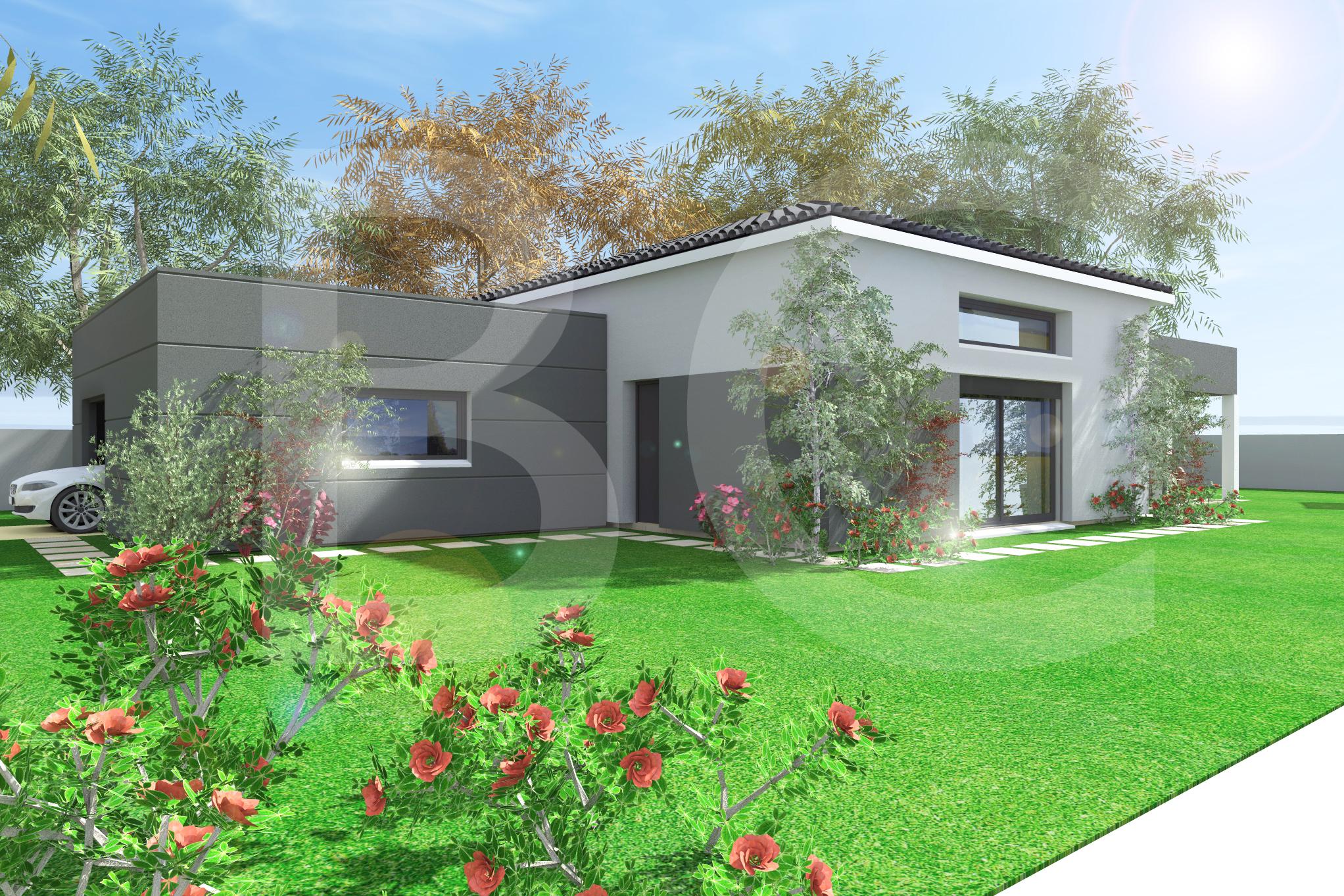 Maisons + Terrains du constructeur BATI CONCEPT 26/07 •  m² • LABLACHERE
