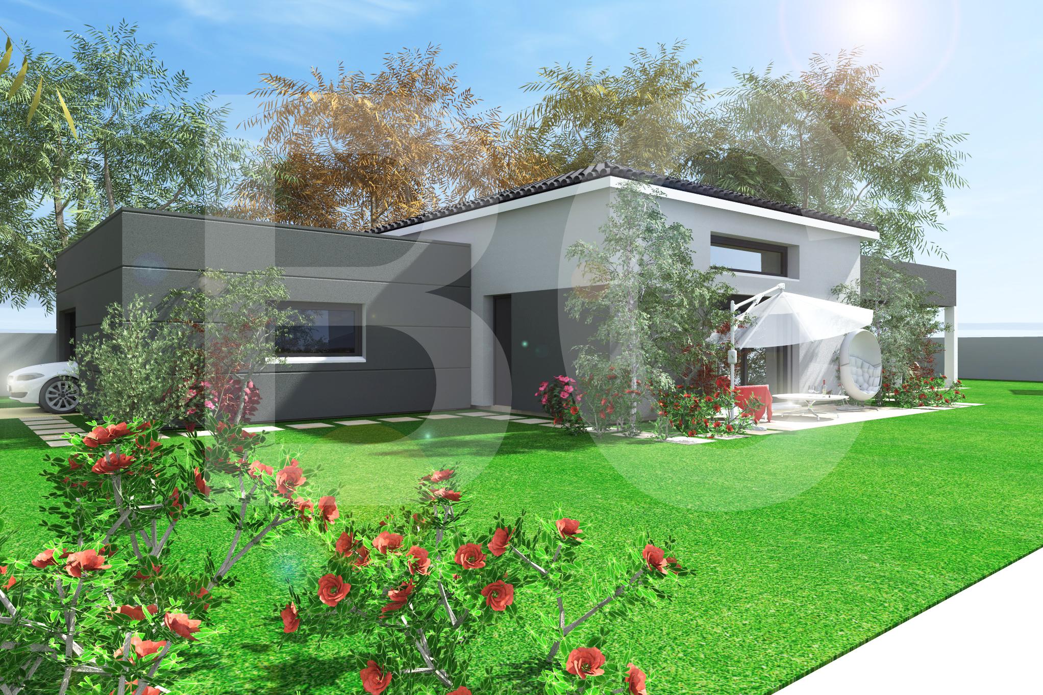 Maisons + Terrains du constructeur BATI CONCEPT 26/07 •  m² • BANNE