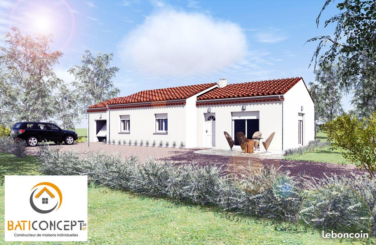 Maisons + Terrains du constructeur BATI CONCEPT 26/07 • 90 m² • THUEYTS