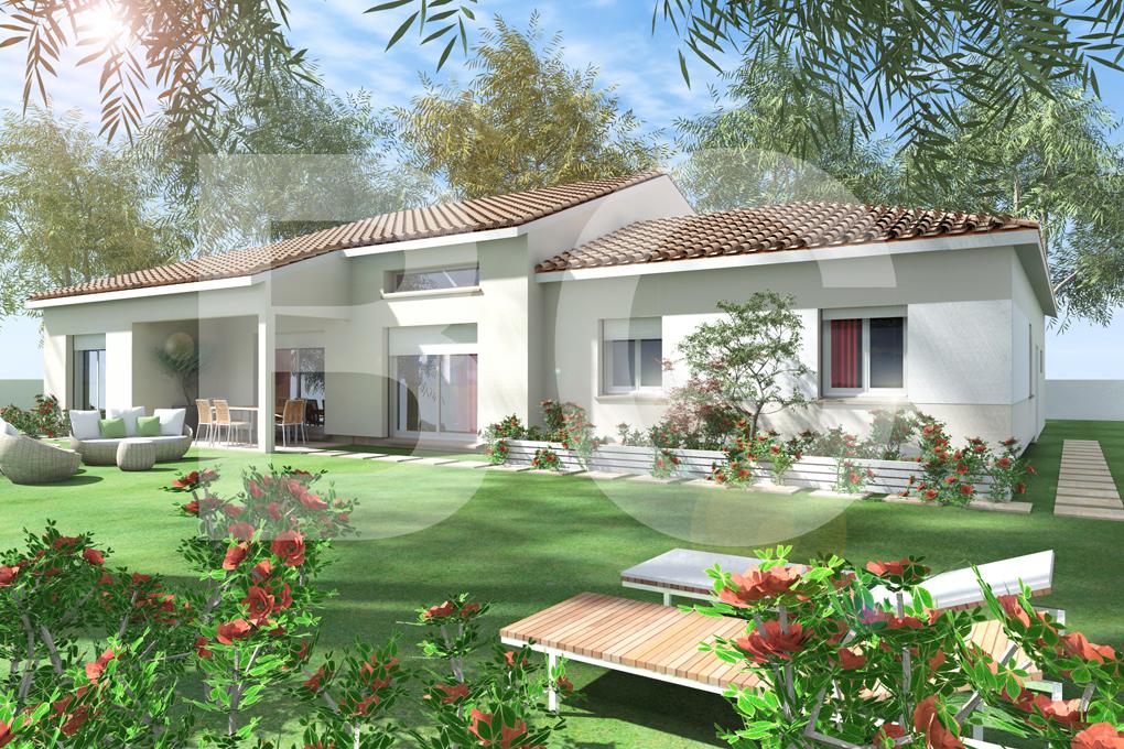 Maisons + Terrains du constructeur BATI CONCEPT 26/07 •  m² • JAUJAC