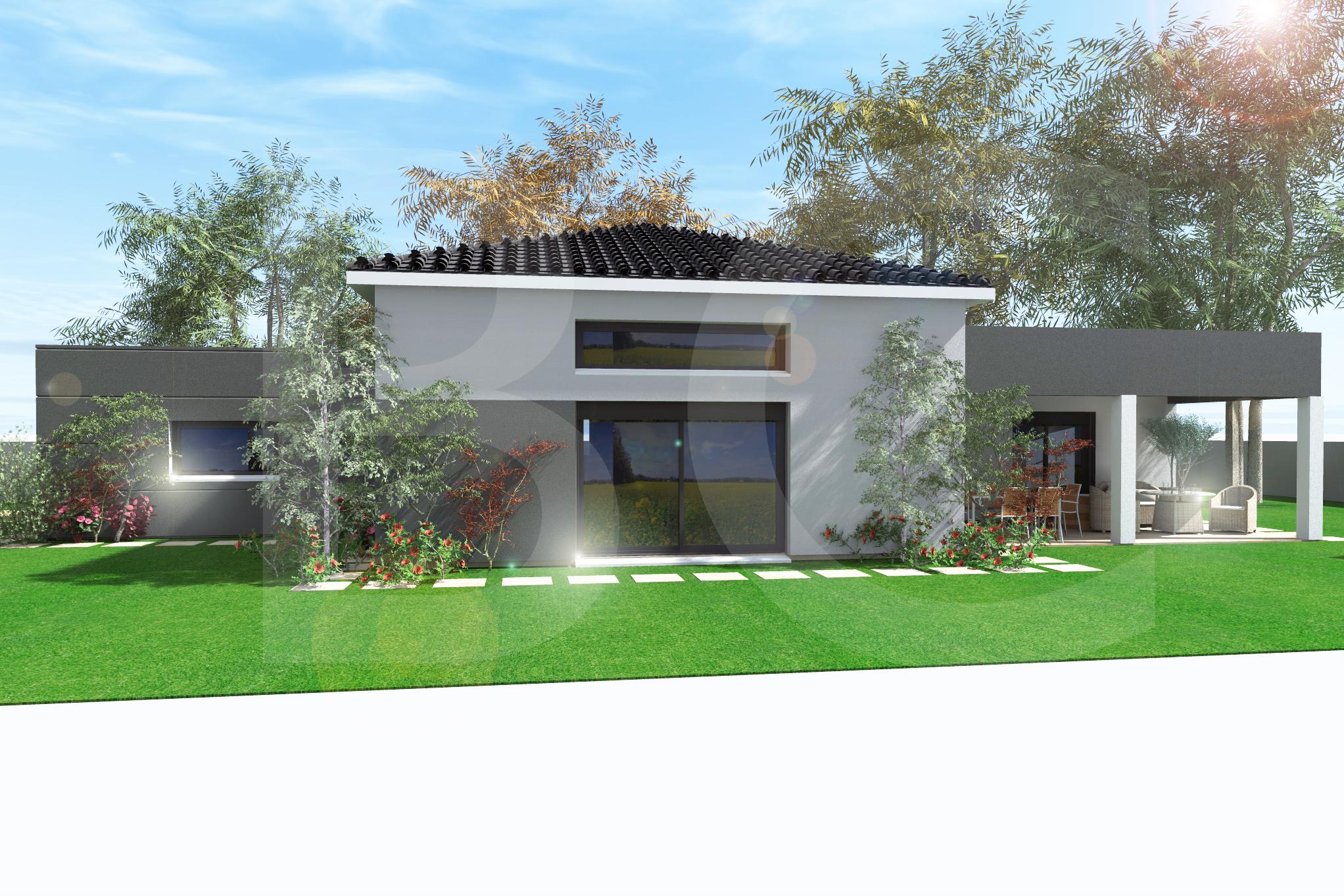 Maisons + Terrains du constructeur BATI CONCEPT 26/07 •  m² • THUEYTS