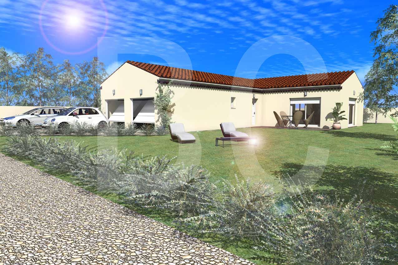 Maisons + Terrains du constructeur BATI CONCEPT 26/07 •  m² • LAVILLEDIEU