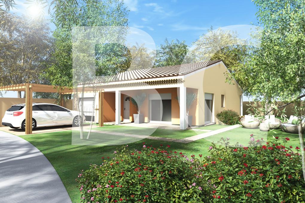 Maisons + Terrains du constructeur BATI CONCEPT 26/07 • 100 m² • UCEL