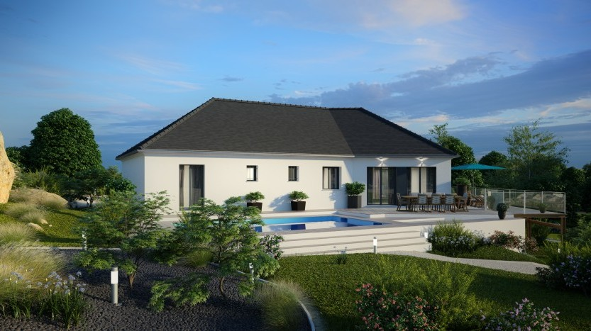 Maisons du constructeur MAISONS PIERRE SAINT NAZAIRE • 136 m² • SAINT NAZAIRE