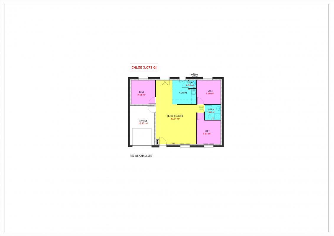Maisons du constructeur MAISONS PIERRE SAINT NAZAIRE • 73 m² • HERBIGNAC