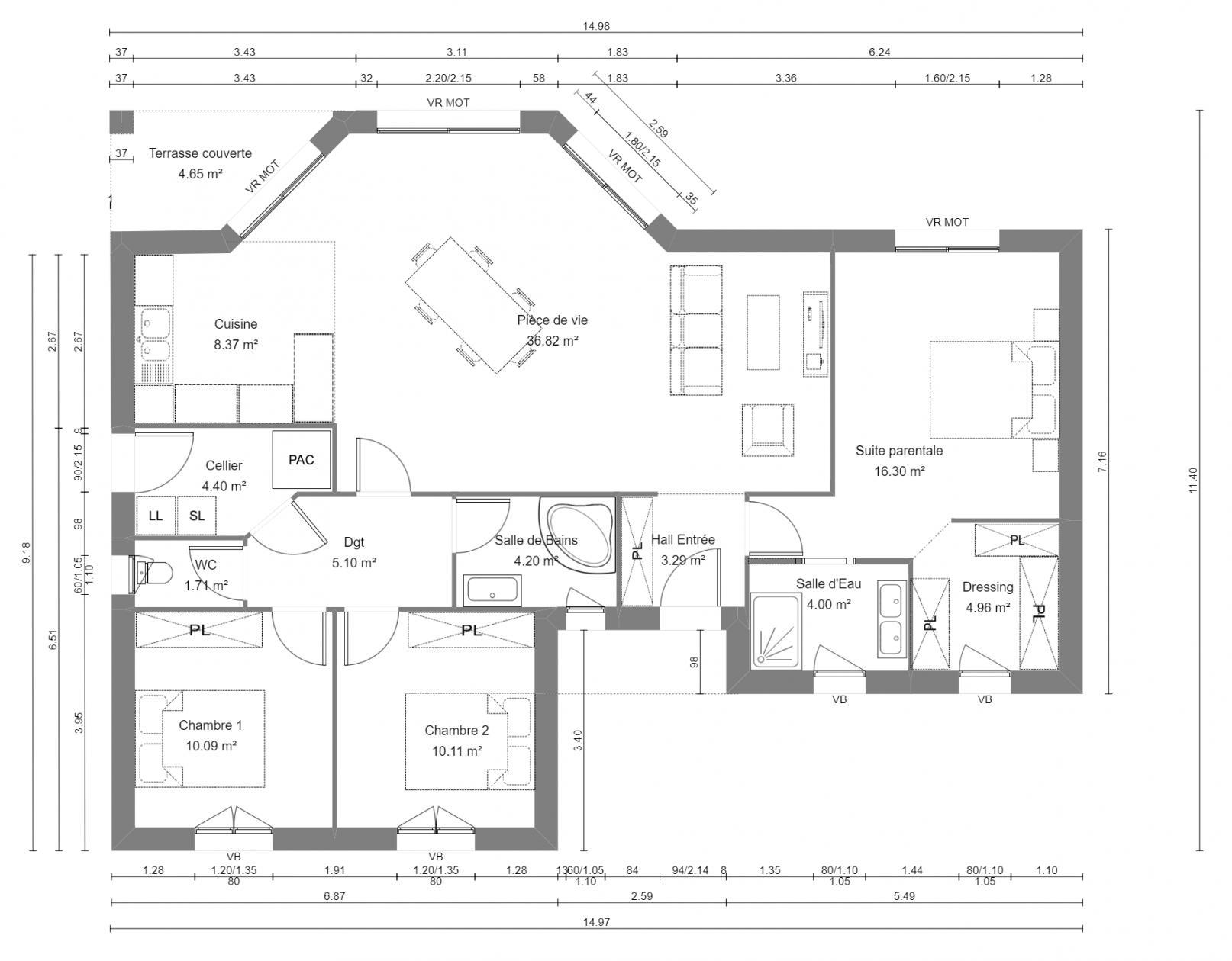 Maisons du constructeur SOLIS CONSTRUCTION - AGENCE DE CHATELAILLON PLAGE • 109 m² • LES MATHES