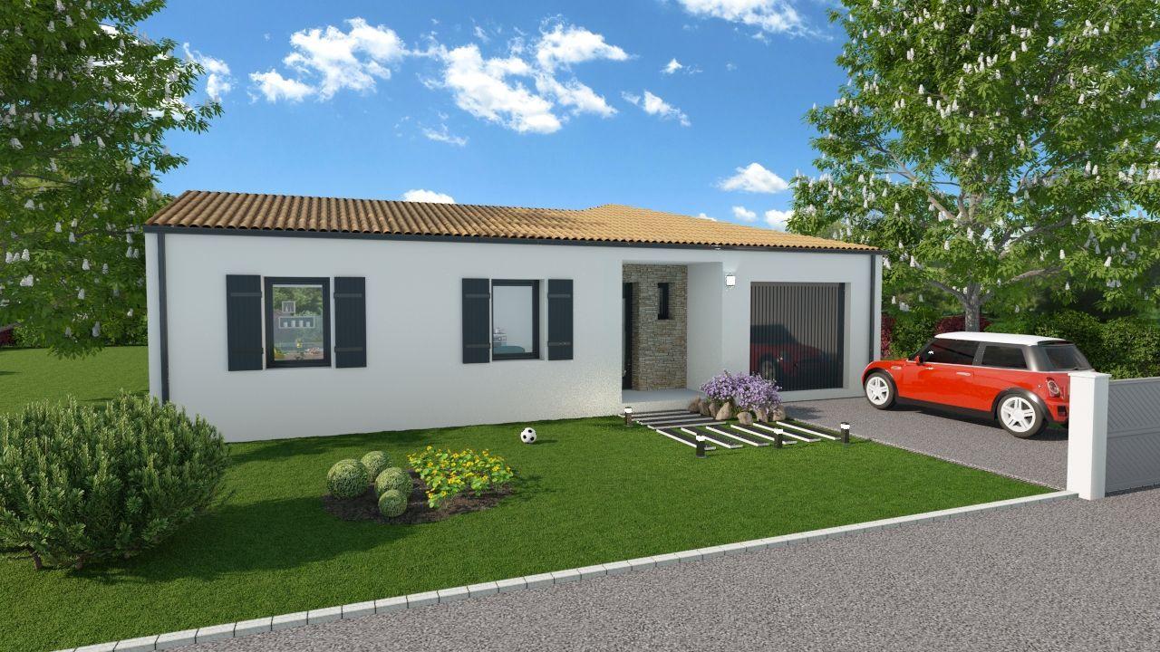 Maisons du constructeur SOLIS CONSTRUCTION - AGENCE DE CHATELAILLON PLAGE • 90 m² • SEMUSSAC