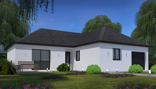 Maisons + Terrains du constructeur HABITAT CONCEPT - AGENCE DE DIEPPE • 92 m² • HAUTOT SUR MER