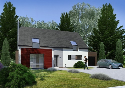 Maisons + Terrains du constructeur HABITAT CONCEPT - AGENCE DE DIEPPE • 125 m² • OFFRANVILLE