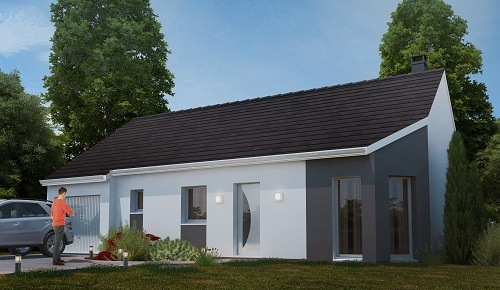 Maisons + Terrains du constructeur HABITAT CONCEPT - AGENCE DE DIEPPE • 84 m² • LA CHAUSSEE