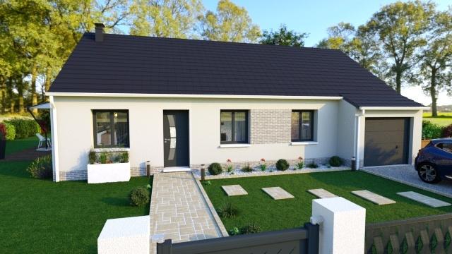 Maisons + Terrains du constructeur HABITAT CONCEPT DOUAI • 87 m² • FECHAIN