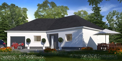 Maisons + Terrains du constructeur HABITAT CONCEPT STE MARIE DES CHAMPS • 106 m² • ETAIMPUIS