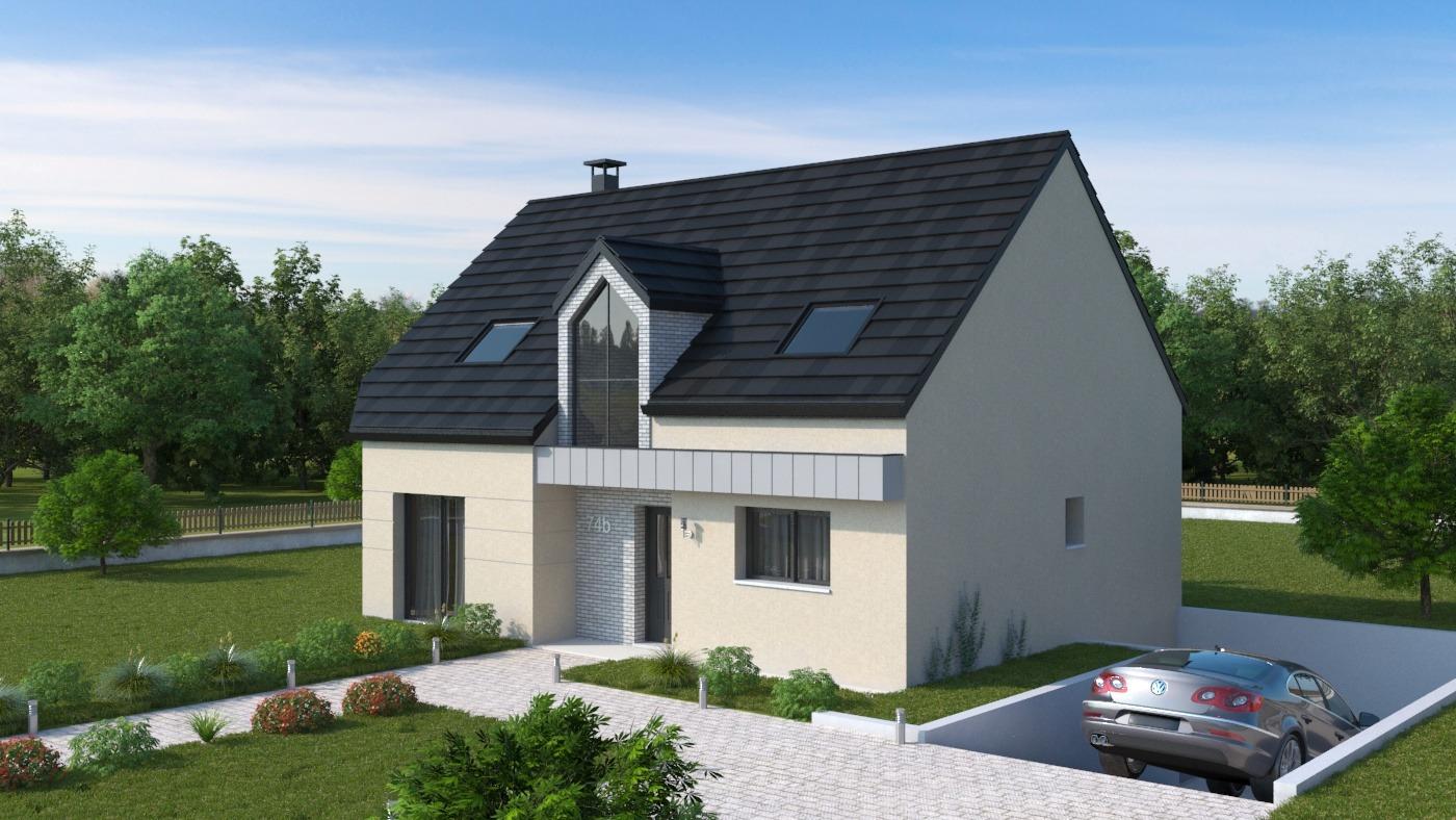 Maisons + Terrains du constructeur HABITAT CONCEPT STE MARIE DES CHAMPS • 101 m² • ECALLES ALIX