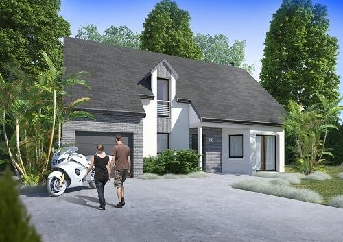 Maisons + Terrains du constructeur HABITAT CONCEPT • 124 m² • FONTAINE LE BOURG