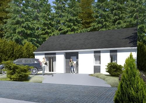 Maisons + Terrains du constructeur HABITAT CONCEPT NEUFCHATEL EN BRAY • 95 m² • POMMEREVAL