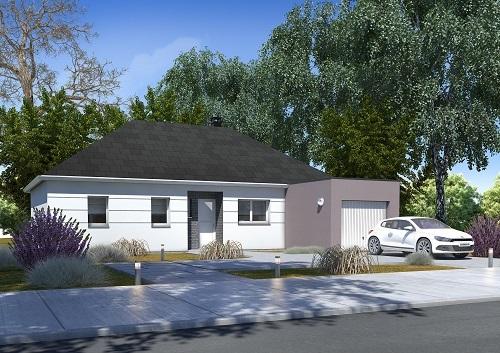 Maisons + Terrains du constructeur HABITAT CONCEPT ST ROMAIN DE COLBOSC • 92 m² • CRIQUETOT L'ESNEVAL
