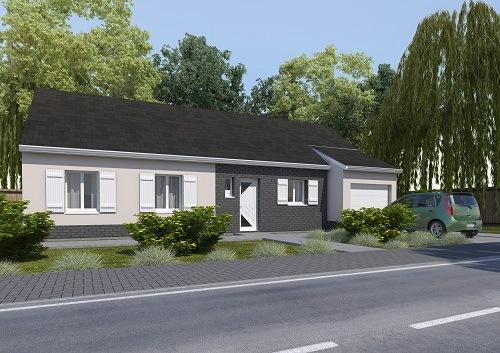 Maisons + Terrains du constructeur HABITAT CONCEPT ST ROMAIN DE COLBOSC • 97 m² • SAINT ROMAIN DE COLBOSC