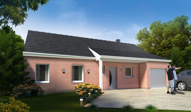 Maisons + Terrains du constructeur HABITAT CONCEPT LILLE • 88 m² • MASNY