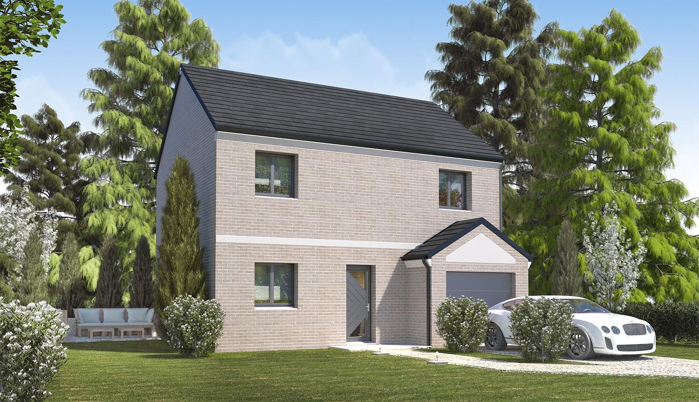 Maisons + Terrains du constructeur HABITAT CONCEPT LILLE • 86 m² • LA CHAPELLE D'ARMENTIERES
