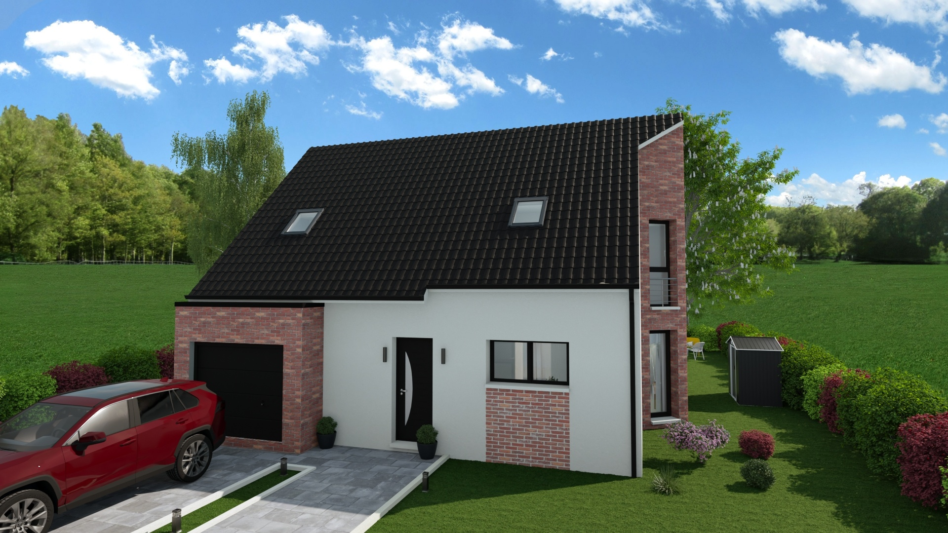 Maisons + Terrains du constructeur HABITAT CONCEPT LILLE • 89 m² • MERVILLE