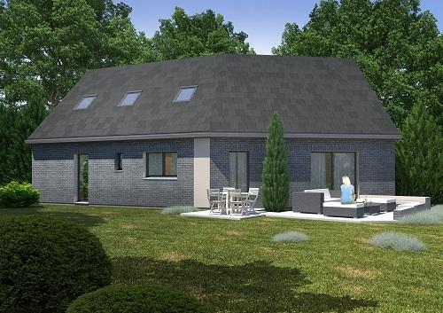 Maisons + Terrains du constructeur HABITAT CONCEPT LILLE • 150 m² • THUMERIES