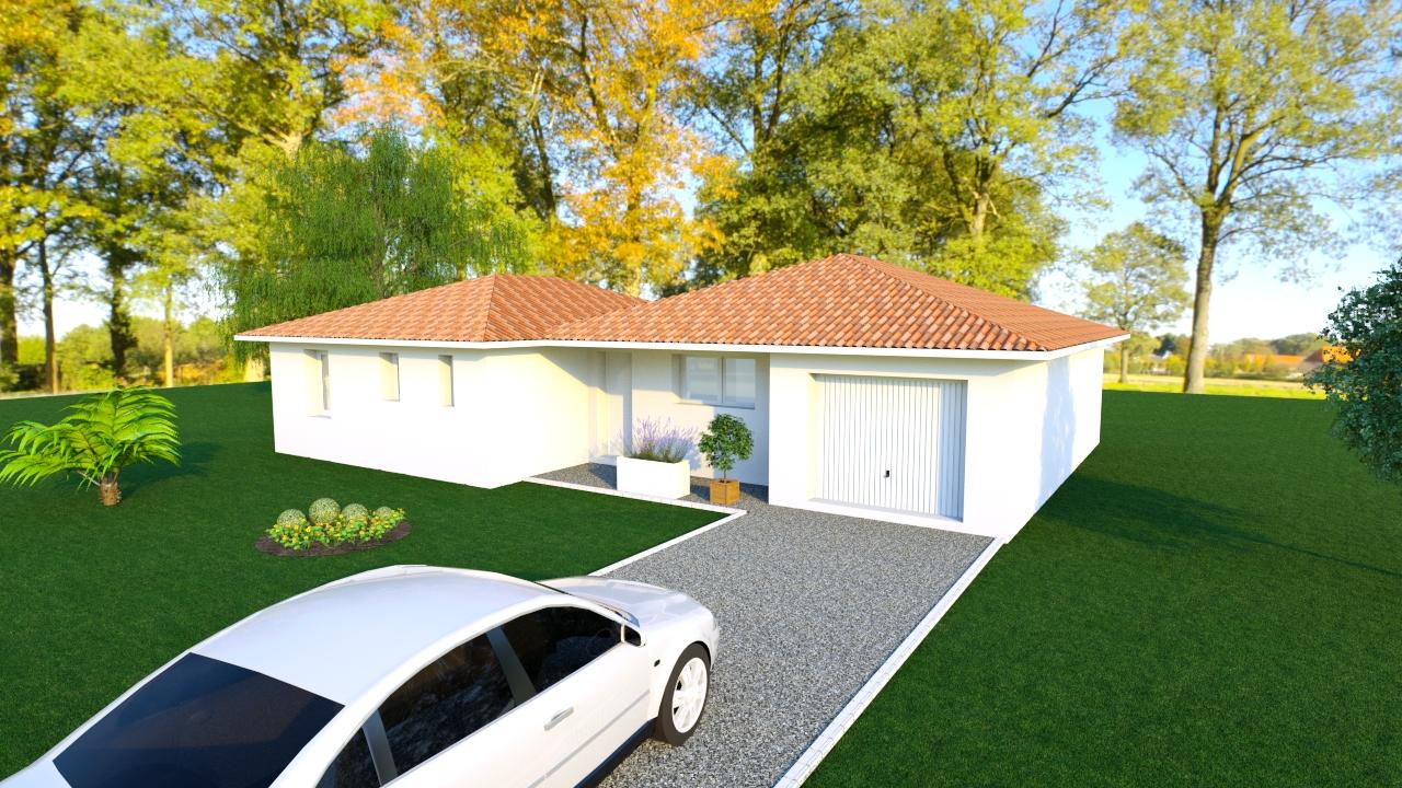 Maisons + Terrains du constructeur LES DEMEURES DE LA COTE D'ARGENT • 106 m² • SAINTE EULALIE EN BORN
