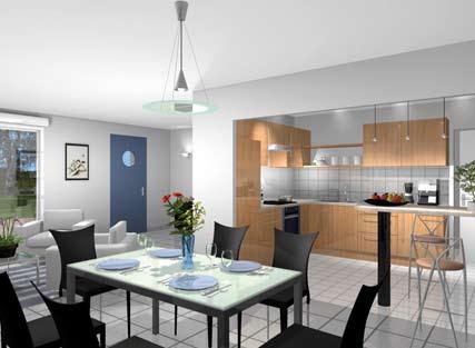Maisons + Terrains du constructeur LES DEMEURES DE LA COTE D'ARGENT • 97 m² • SOLFERINO