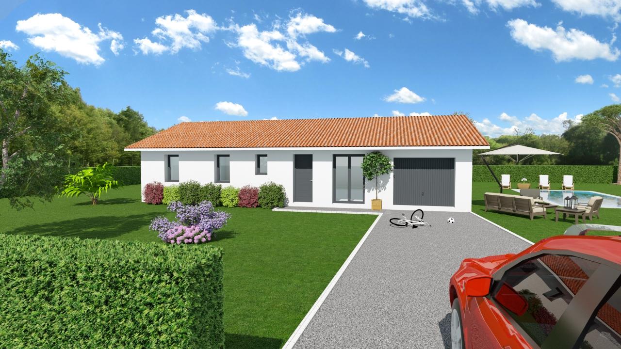 Maisons + Terrains du constructeur LES DEMEURES DE LA COTE D'ARGENT • 97 m² • LIPOSTHEY